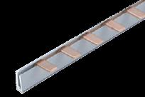 Соединительная шина однополюсная штыревая (PIN) до 63А 6х1,8мм (10 кв. мм) длина 12модулей