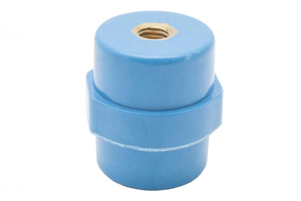 """Опорный изолятор типа """"бочонок"""" SM 10кВ H=35мм цвет синий (1 упак./10 шт.)"""