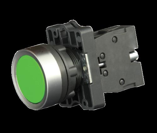 Кнопка в пластиковом корпусе зеленая IP65