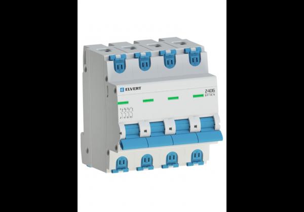 Автоматический выключатель Z406 4Р D10 4,5кА ELVERT