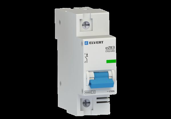 Автоматический выключатель eZ113 1Р C80 10кА ELVERT