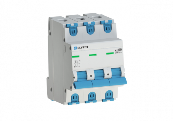 Автоматический выключатель Z406 3Р D16 4,5кА ELVERT