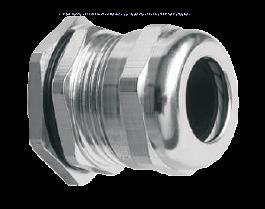 Кабельный ввод (сальник) латунный никелированный резьба PG21, диаметр кабеля 14-18 мм